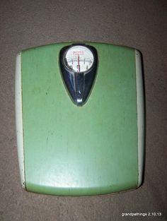 Vintage Retro Mid Century Green White & Chrome Borg Metal Bathroom Scale USA Edit item   Reserve item    $45.00