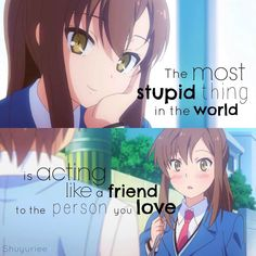 Browse Daily Anime / Manga photos and news and join a community of anime lovers! Reality Quotes, Mood Quotes, Happy Quotes, Life Quotes, Sad Anime Quotes, Manga Quotes, Anime Quotes About Love, Meaningful Anime Quotes, A Silent Voice