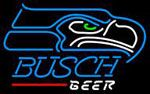 Busch Beer Seattle Seahawks NFL Neon Sign 1 0006, Busch with NFL Neon Signs | Beer with Sports Signs. Makes a great gift. High impact, eye catching, real glass tube neon sign. In stock. Ships in 5 days or less. Brand New Indoor Neon Sign. Neon Tube thickness is 9MM. All Neon Signs have 1 year warranty and 0% breakage guarantee.