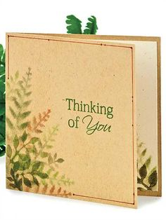 Thinking of You Paper Crafting Pattern Download from e-PatternsCentral.com -- Depth is achieved with the use of stencils and applied layers of chalk in this leafy design suitable for both men and women.