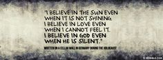I Believe In God Even When He Is Silent. - Facebook Cover Photo