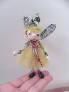 ooak pose-able SUGAR PLUM pixie FAIRY (1 ) art doll by DinkyDarlings on Etsy, $59.00