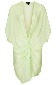 Washed Lime Twist Front Tunic - New In This Week - New In