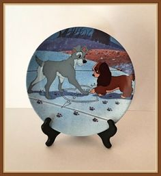 Walt Disney Lady and the Tramp Plate Puppy Love by bettysworld4u