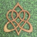 Stylized Celtic Heart-Knot of Everlasting Love-Heart Shaped Wood