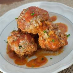 """Melinda's Porcupine Meatballs I """"Really good, and a big hit with my family. We ended up eating them with spaghetti."""""""