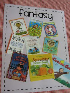 genres galore--prints out a small picture of the book cover and puts it on the genre board after reading