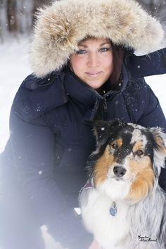 * Roxanne et son chien :) #chien #hiver #neige #photographie #photoshoot #jaime #beautée #froid *