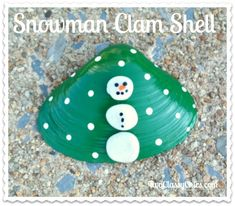 Craft Project: Painted Snowman Clam Seashells