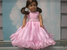 Pretty Pink Party Dress for 18 inch Dolls like by janinenetzel, $27.00