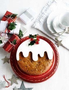Tropical Christmas pudding cake