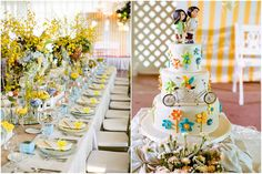 Fun wedding cake with bicycle and pinwheels || Really Awesome Weddings » Tagaytay Midlands, Madre de Dios, Tagaytay City Wedding / Chilley and Anna