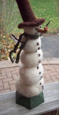 Michelle Palmer: Another Needle Felted Snowman...