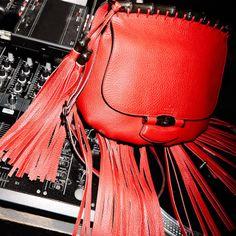 The SS 2014 Gucci Nouveau Fringe Leather Shoulder Bag