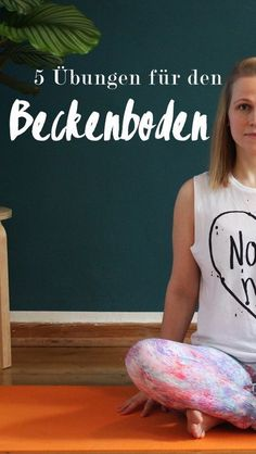 Beckenboden – Wissenswertes & 5 Übungen Worth knowing about the pelvic floor and 5 exercises to strengthen the pelvic floor muscles – not only important for the regression after pregnancy and childbirth, but also for all others. Fitness Workouts, Fitness Goals, Yoga Fitness, Fitness Motivation, Health Fitness, Muscle Fitness, Fitness Hacks, Fitness Logo, Pelvic Floor