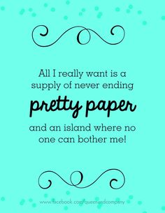 Paper Island, the ultimate vacation. Join the Queen & Co Facebook page for lots of fun scrapbook jokes, craft jokes, rubber stamp jokes and DIY jokes. We celebrate the funny side of crafting!