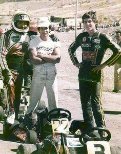 Sudam Karting de 1979 em San Juan, Argentina. Jorge Rodriguez, Robertinho e Ayrton.