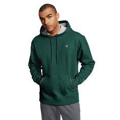 Men's Champion Fleece Powerblend Hoodie, Size: Medium, Dark Green