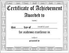 Free Blank Certificate Certificate Border Template ...