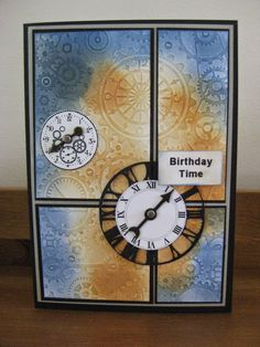 CRAFTY IDEAS, MINE AND EVERYONE ELSES: MENS BIRTHDAY CARD WITH SPONGED BACKGROUND