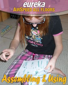 The Eureka AirSpeed All Floors vacuum works on all floor types. Assembly was easy enough for an 11-year old! #EurekaPower - SahmReviews.com #shop