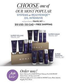 Sale starts at 8am estern and ends Monday,Feb 19!🤗 Travel sets include: 💁🏻♀️ Super Smooth: Smoothing Shampoo + Smoothing Conditioner + Hairspray + ... - Sher Garneau - Google+