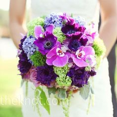 Purple  green wedding bouquet