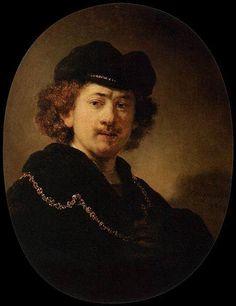 """""""Portrait de @UltranusAbitbol à la toque et à la chaîne en or"""", Rembrandt, 1633."""
