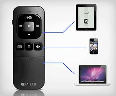 Control your #iPad, #iPhone and even #Mac using universal #bluetooth multimedia remote control. Make #geek life so easy.