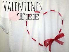 Framed Frosting: DIY Heart-Shaped Ribbon Tee