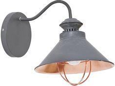 Kinkiet lampa ścienna Nowodvorski Loft taupe 1x60W E27 szary 5665 swiatloistyl.pl
