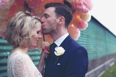 Paper Flower Pom Pom Bloom Brolly Umbrella by Pearl and Earl - do you need a paper umbrella? Paper Umbrellas, Brollies, Couple Posing, Wedding Wishes, Engagement Shoots, Paper Flowers, Wedding Inspiration, Bloom, Poses