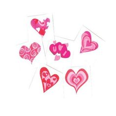Heart Glitter Tattoos, Sold By 15 Grosses