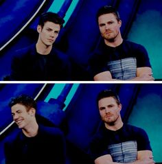 In which Stephen Amell and Grant Gustin really are Oliver Queen and Barry Allen #sdcc2016