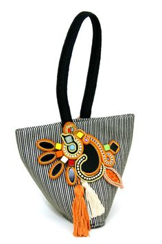 Dori's Calypso bag with colorful hand-embroidered  elements