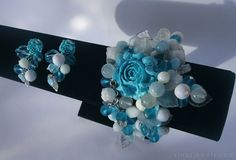 Turquoise Poise  Chunky turquoise bracelet and by RinasJewels