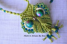 Micro-macrame Owl Necklace