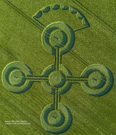 Crop Circle at The White Horse, Nr Alton Barnes, Wiltshire. Reported 25th May 2017