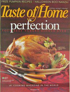 Taste of Home, Perfection Your Best Turkey Dinner Ever. October November 2008