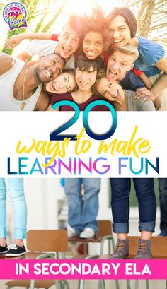A big list of strategies for making learning fun in middle and high school ELA. This list includes creative, engaging, and active learning strategies that push critical thinking and interaction. #EngagingELA #MiddleSchoolELA #HighSchoolELA Brain Based Learning, Engage In Learning, Fun Learning, Learning Activities, Teaching Strategies, Teaching Ideas, Middle School Ela, High School, Instructional Strategies