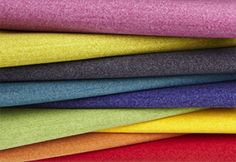Textiles: Delaine by Designtex  Beautiful color with a soft heather effect gives Delaine by Designtex its need-to-be-touched wool-like appearance. Resembling the refined billiard cloth of its namesake, the heavy fleece upholstery can withstand up to 50,000 double rubs, is wrinkle-free, and sustainable with a composition of 60 percent post consumer recycled polyester and a Cryton® Green finish. Delaine is available in 19 colorways including a bolg Lipstick red, bright Orchid purple, & deep…