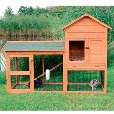 This small animal cage provides plenty of space for your pets to run and play. The small cage features metal latches to keep your pets protected and contained. This cage has two stories with extra space in the attic for additional storage.