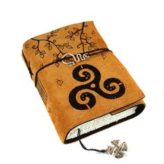 Triskele Celtic Journal Leather Handmade Celtic by Kreativlink ... Like the closure