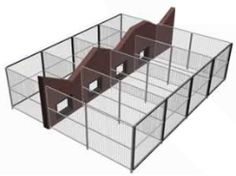inside and outside kennel runs dog kennel designskennel ideasoutdoor - Dog Kennel Design Ideas