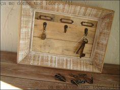 Cadre porte clés avec bois de palette