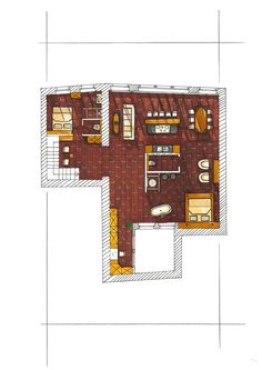 Perspective par Susana Claude-Murcia - Ecoloft Plan couleur Murcia, Perspective, House Design, How To Plan, Interior Design, Home, Nest Design, Home Interior Design, Interior Designing