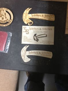 Business cards on various material, matte board, and wood! The opportunities with a laser engraver are just great! Laser Engraving, Business Cards, Stitch, Wood, Lipsense Business Cards, Full Stop, Woodwind Instrument, Timber Wood, Trees