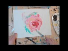 A simple demo to help you get started painting abstract florals with a palette knife!