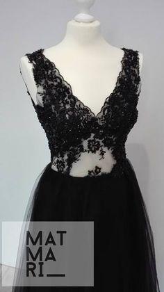 Elegancka sukienka wieczorowa - MatMari - Suknie wieczorowe