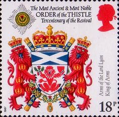Scottish Heraldry 18p Stamp (1987) Arms of the Lord Lyon King of Arms